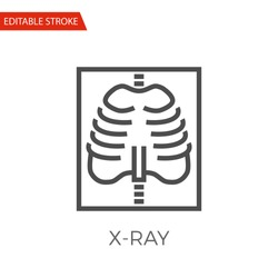X-ray Thin Line Vector Icon. Flat Icon Isolated on the White Background. Editable Stroke EPS file. Vector illustration.
