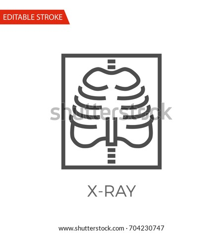 X-ray Thin Line Vector Icon. Flat Icon Isolated on the White Background. Editable Stroke EPS file. Vector illustration. Foto d'archivio ©
