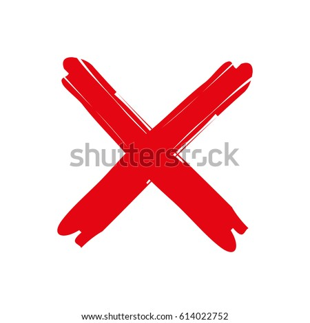 X - Red cross on a white background vector illustration