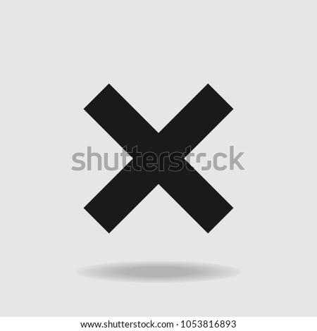 X symbol. Wrong symbol. Exit symbol. Cancel symbol. Vector #1053816893