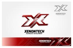 Xenontech Technology Development Vector Logo Illustration. Letter X logo icon design template element, Modern styled for a technology company.