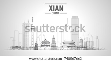 xian line skyline  china