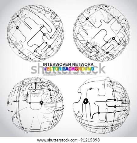 xmas-ball - stock vector