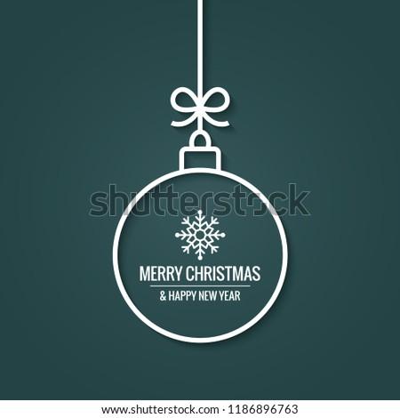 xmas ball with christmas snowflake on retro green background