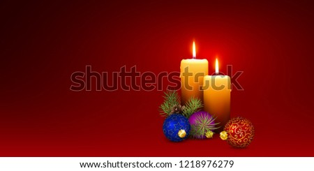 xmas candlelights with