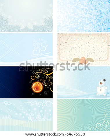 Xmas Cards - Vector Collection for your festive design
