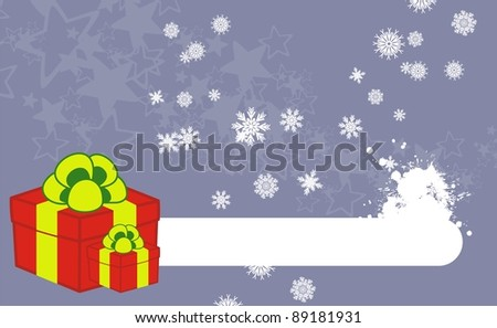 xmas gift box background in vector format
