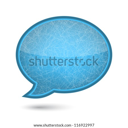 Xmas ice glossy speech bubble. vector illustration