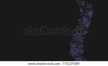 xmas sales with ultraviolet snowflakes winter border for flyer gift card party invite