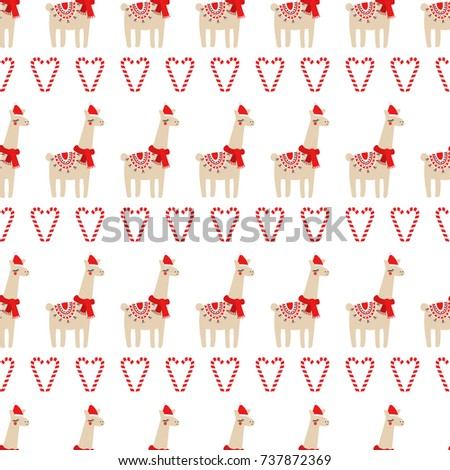 xmas seamless pattern with cute