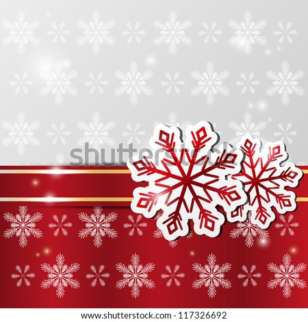 Xmas shiny background with snowflakes
