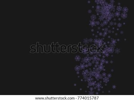 xmas theme sale with ultraviolet snowflakes winter border for gift coupons vouchers ads