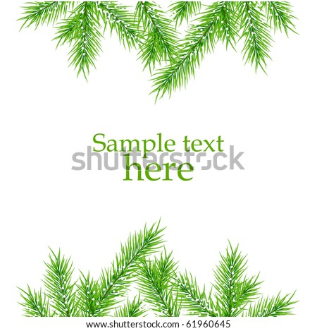xmas tree branches vector background #61960645