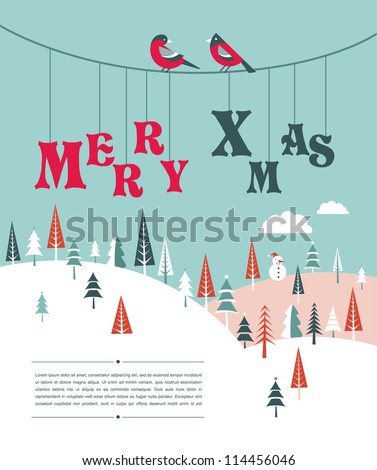 xmas vector background with