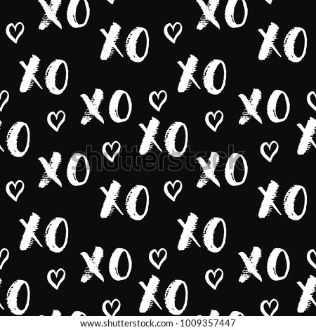 xoxo brush lettering signs