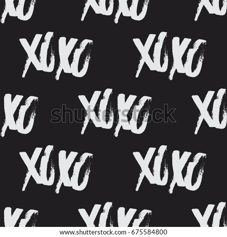 xoxo brush stroke seamless