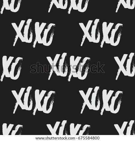 xoxo brush stroke seamless