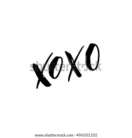 xoxo   freehand ink hand drawn
