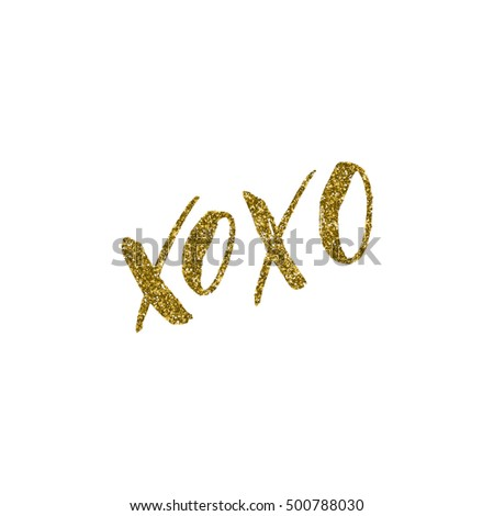 xoxo   ink freehand lettering