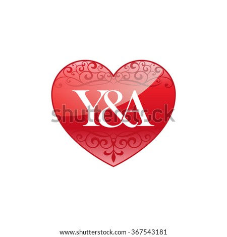 y a initial letter logo with