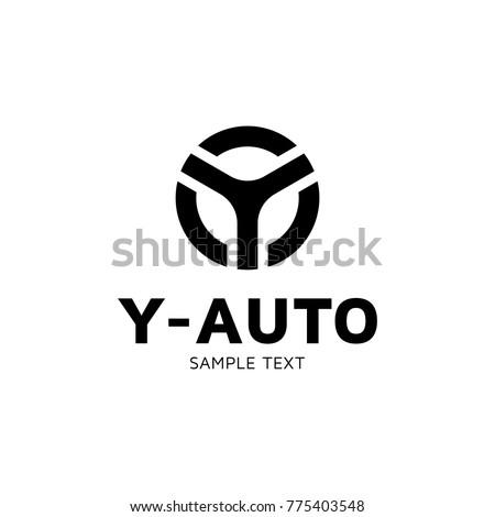 y auto car wheel logo design