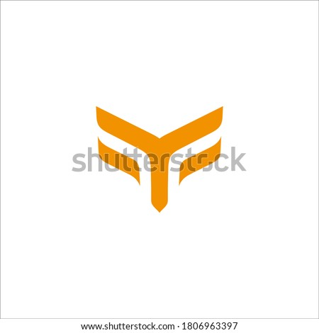 Y F logo design vector sign Stock fotó ©