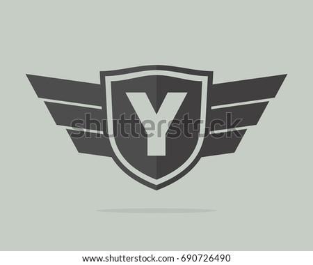 y initial badge team template