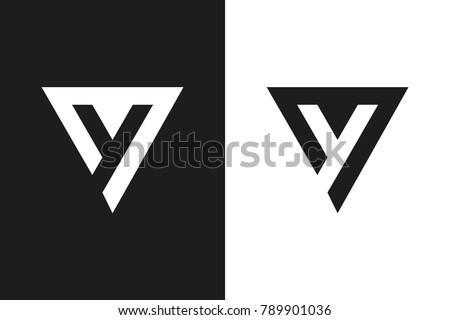 Y Letter logo, Minimal Logo