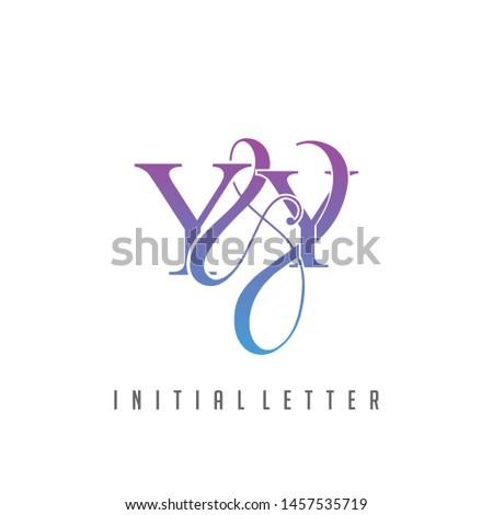 Y & Y YY logo initial vector mark.