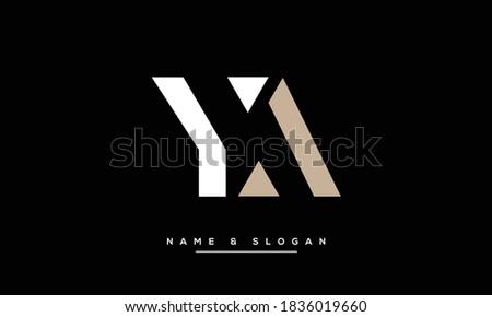 YA ,AY ,Y ,A  Abstract Letters Logo Monogram Stok fotoğraf ©
