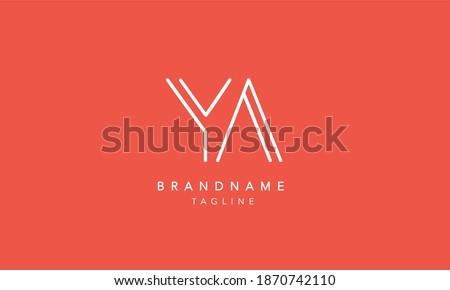 YA Letter Monogram Logo. Alphabet initial icon vector illustration. Stok fotoğraf ©
