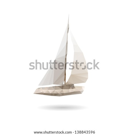 yacht abstract isolated on a
