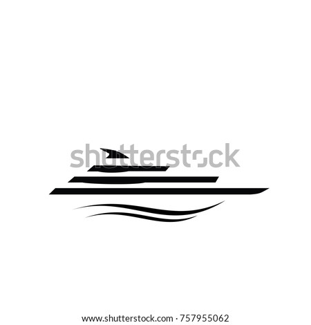 Yacht logo. Simple illustration of yacht vector icon for web