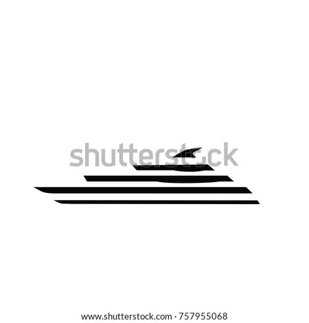 yacht logo simple illustration