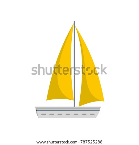 Yacht travel icon. Flat illustration of yacht travel vector icon isolated on white background