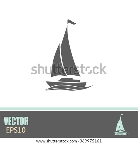 yacht vector icon