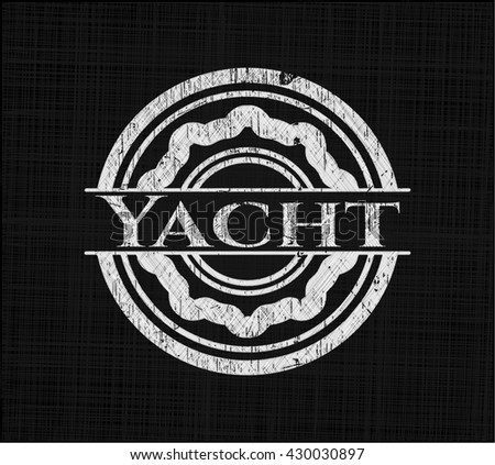 Yacht written with chalkboard texture