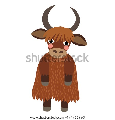 yak standing on two legs animal