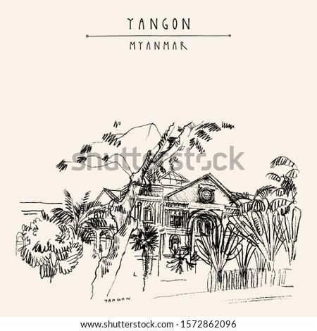 yangon  rangoon   myanmar