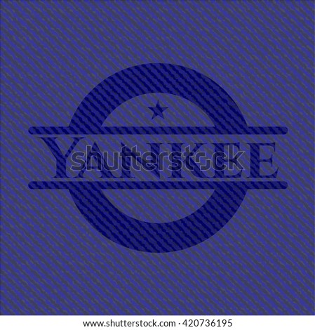 Yankee badge with jean texture