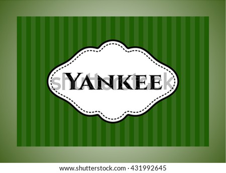 Yankee card or banner