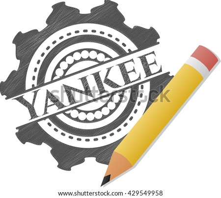Yankee drawn with pencil strokes