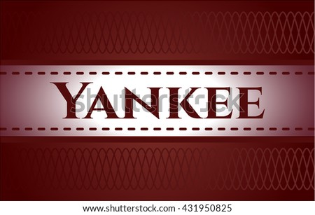 Yankee retro style card or poster
