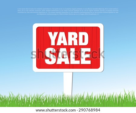 yard sale board