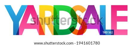 YARD SALE colorful vector typography banner isolated on white background ストックフォト ©