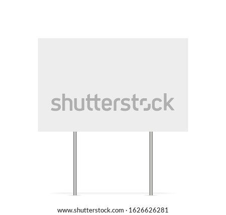 Yard sign vector isolated blank element. Copy space. Horizontal advertising banner. Mockup horizontal. Vector banner. EPS 10 Foto d'archivio ©