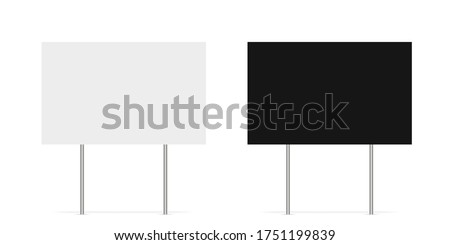 Yard sign vector isolated blank element. Copy space. Horizontal advertising banner. Mockup horizontal. Vector banner. EPS 10