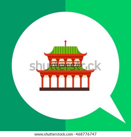 yasaka shrine flat icon