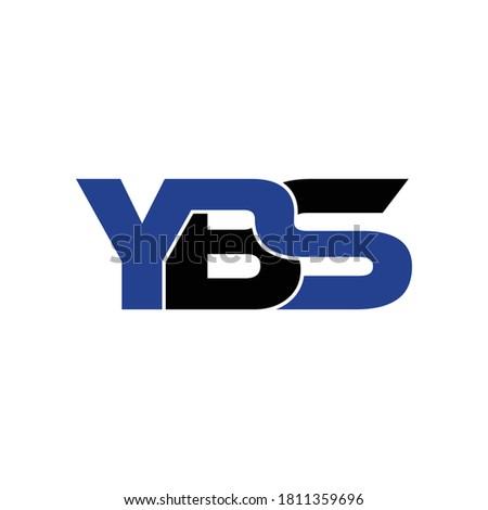 YBS letter monogram logo design vector