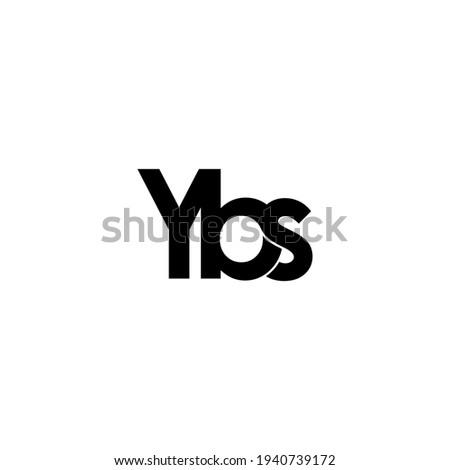 ybs letter original monogram logo design